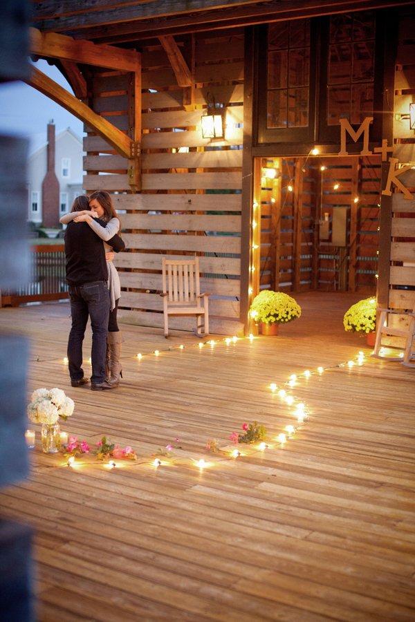 Pedido de Casamento com velas | theletteredcottage.net