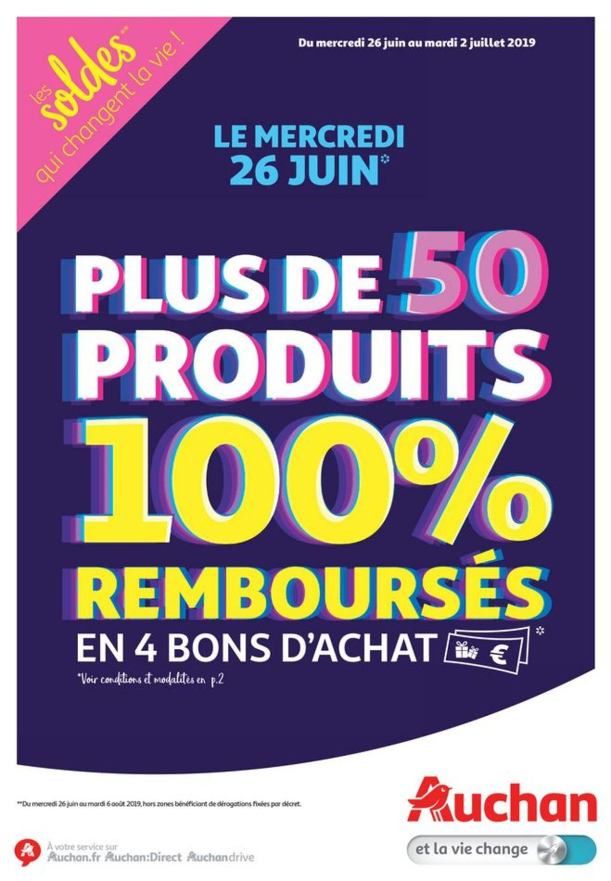 Catalogue Auchan 26 Juin 2019 : catalogue, auchan, Auchan, Catalogue, Actuel, 26.06, 02.07.2019, Catalogue-24.com