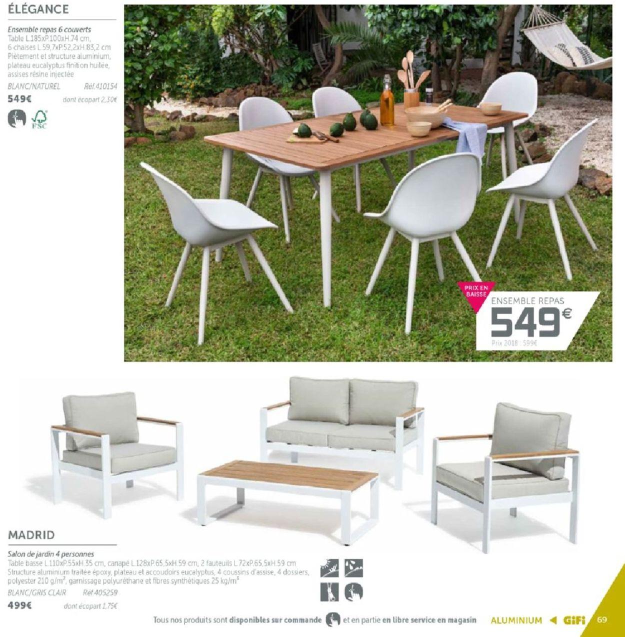 Salon De Jardin Gifi Catalogue Jardin Yong