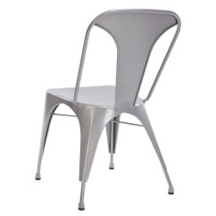Silver Metal Dining Chairs Antique Chair Leg Styles Catchoftheday Au Replica Tolix 85cm 2