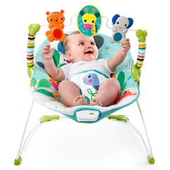 Baby Chair That Vibrates Fold Up Lounge Outdoor Bright Starts Vibrating Jungle Stream Bouncer Ebay