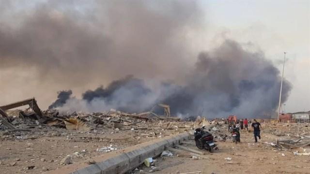 Explosão em zona portuária sacudiram Beirute, capital do Líbano