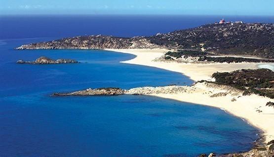 La spiaggia di Chia