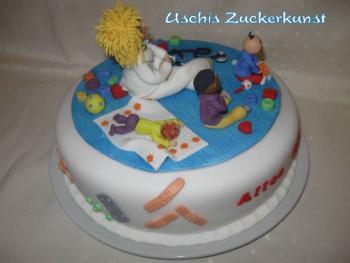 Torte zum 30 Geburtstag Thema Kinderrztin
