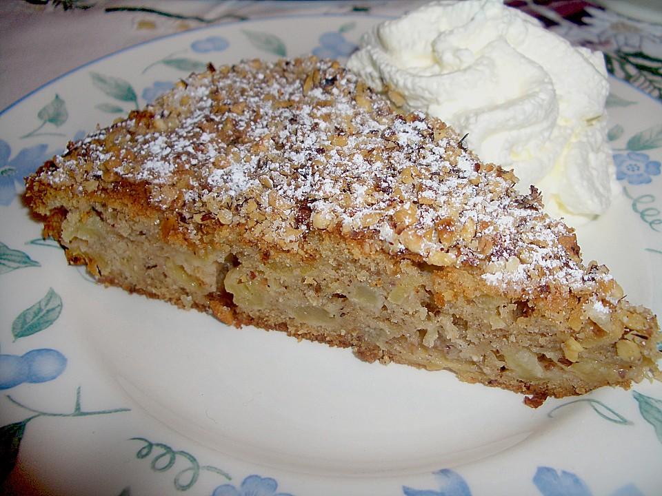 Apfel  Zimt  Nuss  Kuchen Rezept mit Bild von elwira  Chefkochde