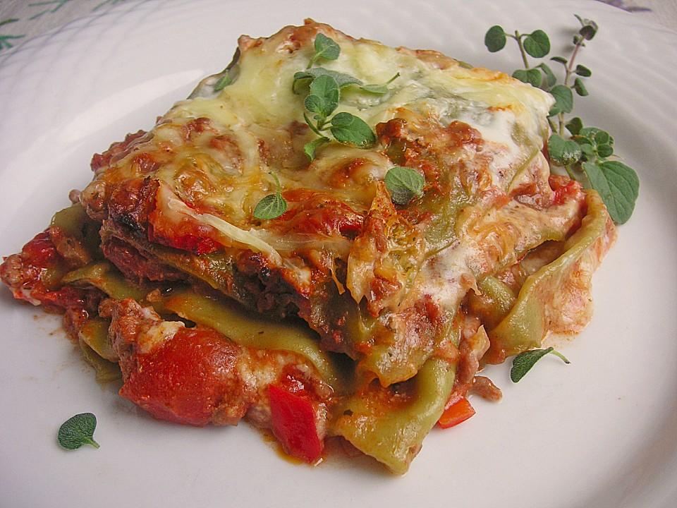 Lasagne mit fruchtiger Paprika  Hackfleisch  Soe von Alcar75  Chefkochde