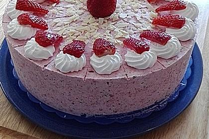 Engelchens Erdbeer  Eistorte Rezept mit Bild von