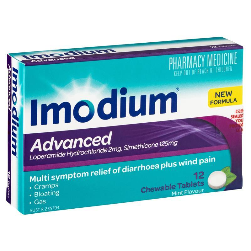 Buy Imodium Advanced 12 Chewable Tablets Online at Chemist ...