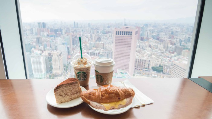 starbucks taipei 101 35th floor taiwan view window