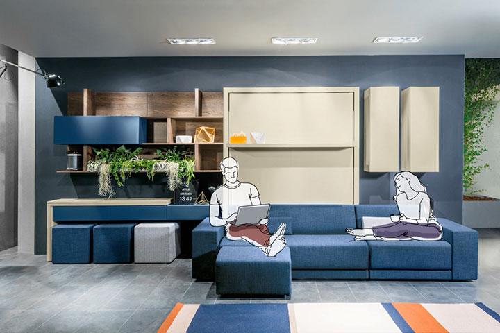 Spese di trasporto e cuscini arredo non sono inclusi nel prezzo dei divani. Space Saving And Transformable Furniture Italian Design Clei