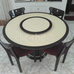 Revolving Chair In Bangladesh Black Faux Leather Dining Table With Chairs | Clickbd