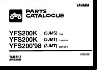 Diagrama/Manual YAMAHA Yamaha Blaster YFS 200