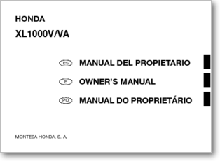 Diagrama/Manual Honda Honda Varadero XL1000