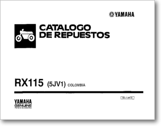 Diagrama/Manual YAMAHA Yamaha RX 115