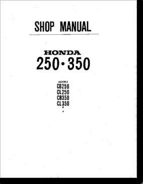 Diagrama/Manual Honda HONDA CB250, CB350, CL250, CL350