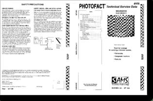 Diagrama/Manual MAGNAVOX 27MS3404/17