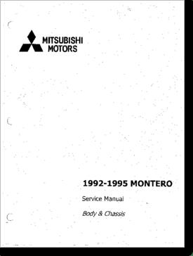 Diagrama/Manual Mitsubishi Mitsubishi Montero 1992 1995