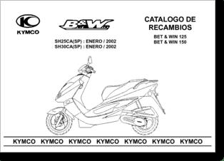 Diagrama/Manual KYMCO Kymco Bet&Win 150 125 2002