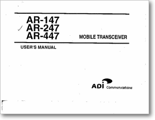 Diagrama/Manual ADI ADI-147,247,447