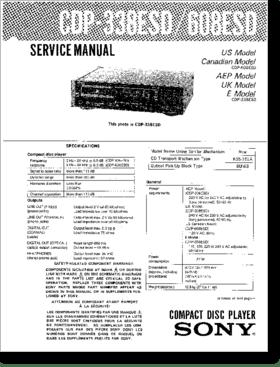 Diagrama/Manual SONY CDP-338ESD, CDP-608ESD