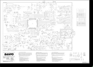 Diagrama/Manual SANYO CE25FV6, CE25GN4, CE25FV21, CE28FV6