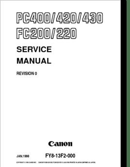 Diagrama/Manual Canon PC400, PC420, PC430, FC200, FC220