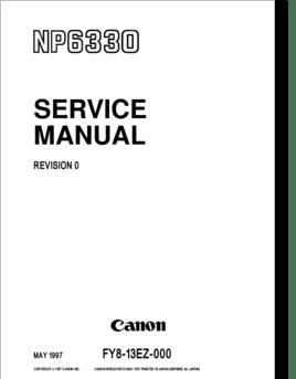Diagrama/Manual Canon NP 6330