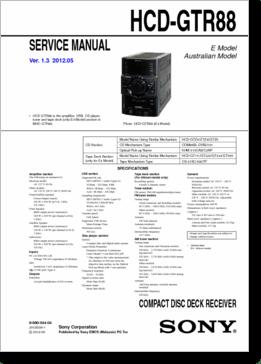 DiagramaManual SONY HCDGTR88