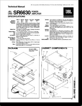 Diagrama/Manual JBL SR6630