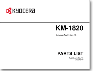 Diagrama/Manual kyocera mita km-1820