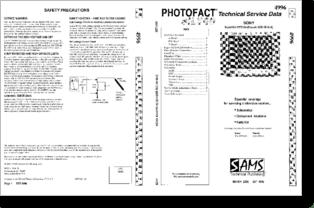 Diagrama/Manual SONY KV-27FS120