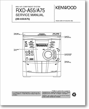 Diagrama/Manual KENWOOD RXD-A55/A75