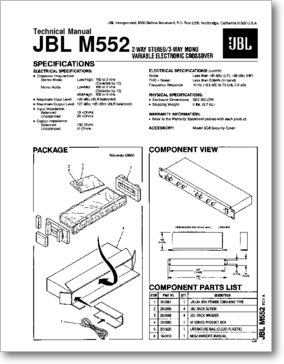 Diagrama/Manual CROSSOVER M552