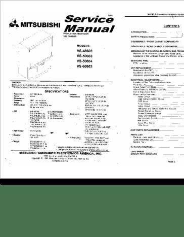 Diagrama/Manual mitsubishi VS-45603 VS-50603 VS-50604 VS