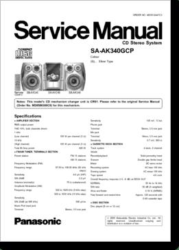 Diagrama/Manual Panasonic Manual Panasonic SA-AK340