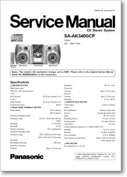 DiagramaManual Panasonic Manual Panasonic SAAK340