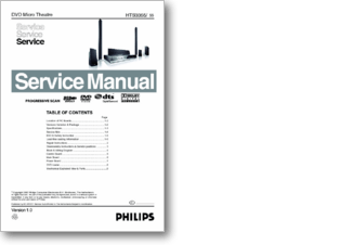Diagramas y manuales de servicio de Home Theater Philips