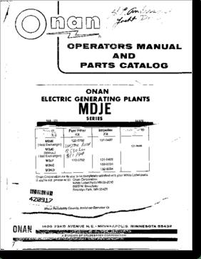 Diagrama/Manual ONAN MDJE Series