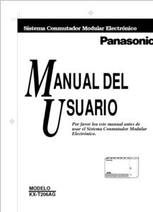 Diagrama/Manual Panasonic kx-t206-ag