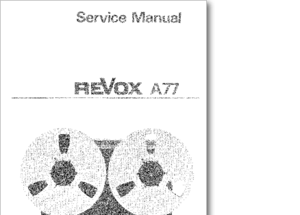 Diagrama/Manual Revox A77