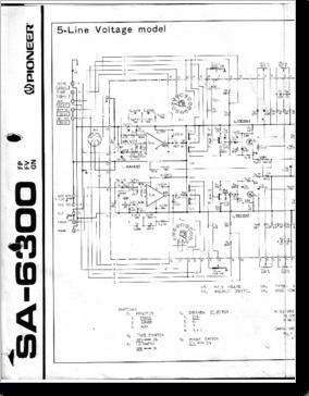 Diagrama/Manual PIONEER SA-6300