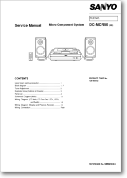 Diagrama/Manual SANYO DC-MCR50