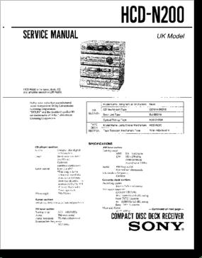 Diagrama/Manual SONY HCD-N200