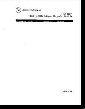 Diagrama/Manual Motorola TRA-100R