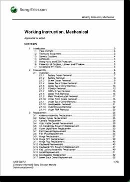 Diagrama/Manual Sony Ericsson W380