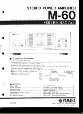 Diagrama/Manual PIONEER Yamaha M-60