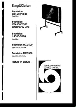Diagrama/Manual Bang Y Olufsen Beovision LX4500, LX5500