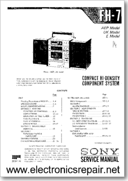 Diagrama/Manual SONY FH-7MKII