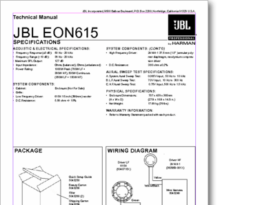 Diagrama/Manual JBL eon615 eon615