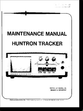 Diagrama/Manual HUNTRON TRACKER 1000
